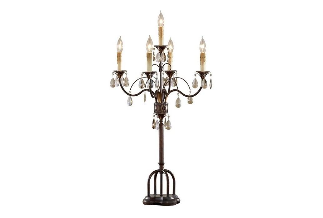 Настольная лампа FeissДекоративные лампы<br>&amp;lt;div&amp;gt;Вид цоколя: E14&amp;lt;/div&amp;gt;&amp;lt;div&amp;gt;Мощность: &amp;amp;nbsp;40W&amp;lt;/div&amp;gt;Количество ламп: 5 (нет в комплекте)&amp;lt;div&amp;gt;Цвет темный орех&amp;lt;/div&amp;gt;<br><br>Material: Металл<br>Width см: 31<br>Depth см: 31<br>Height см: 92