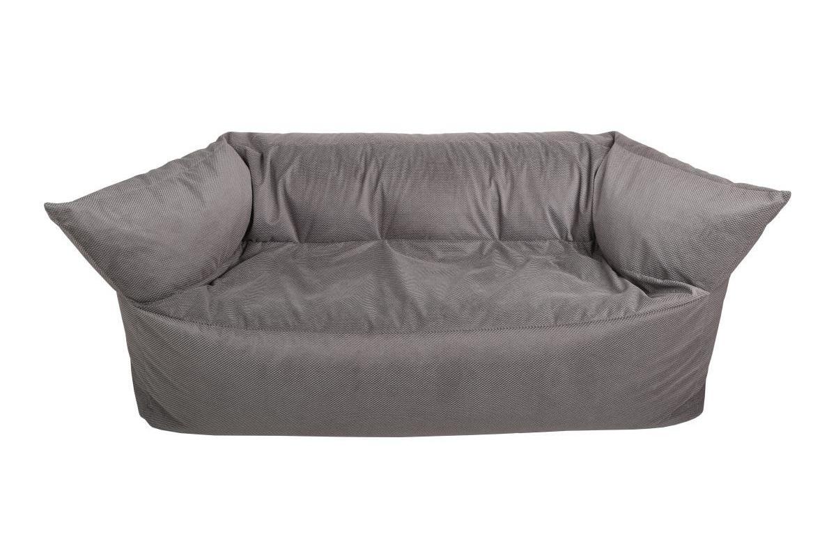 Диван итальянский Серый жемчугДвухместные диваны<br>Романтичное название дивана обманчиво. На самом деле этот предмет мебели не выглядит роскошно или гламурно. Данные качества заменены аскетичной строгостью, но она завораживает не меньше. Наполнитель из пенополистирольных шариков позволяет бескаркаснова дивану обволакивать тело, какое бы положение вы не приняли. Тактильное удовольствие подкрепляется визуальным, получаемым от лаконичного промышленного дизайна.<br><br>Material: Текстиль<br>Ширина см: 170<br>Высота см: 80<br>Глубина см: 80