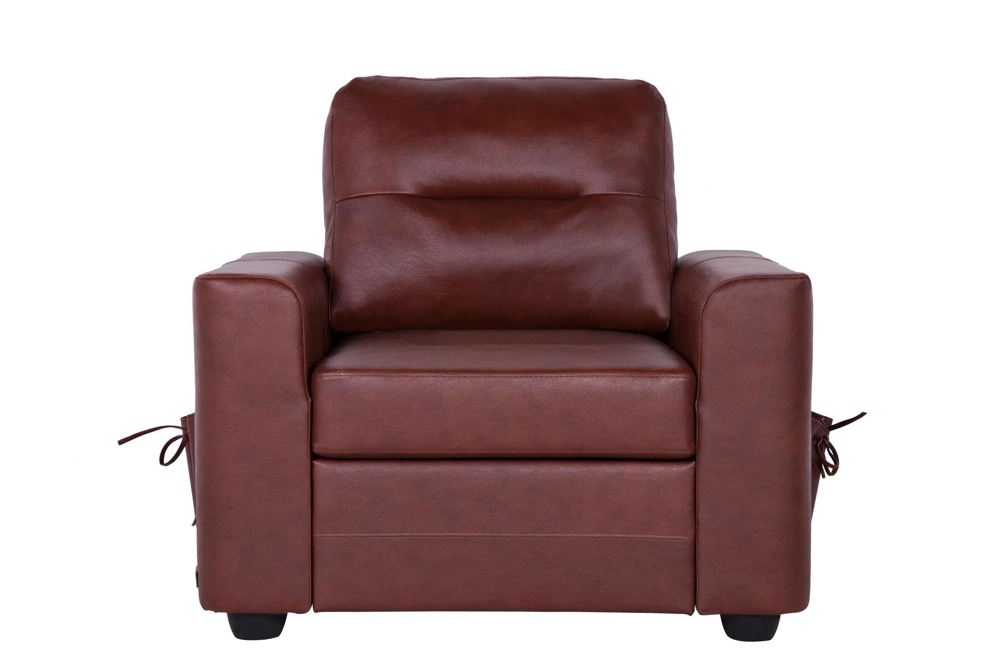 Кресло БеллиноКожаные кресла<br>Модели «Беллино» присуща яркая индивидуальность и законченность во всем облике, благодаря эффективным боковым карманам. Дизайн является продуктом сочетания модных тенденций лаконичности минимализма и классики, что позволяет ему дополнить интерьер гостиной, кабинета или холла. Натуральная кожа bellagio whisky.<br><br>Material: Кожа<br>Width см: 100<br>Depth см: 85<br>Height см: 70