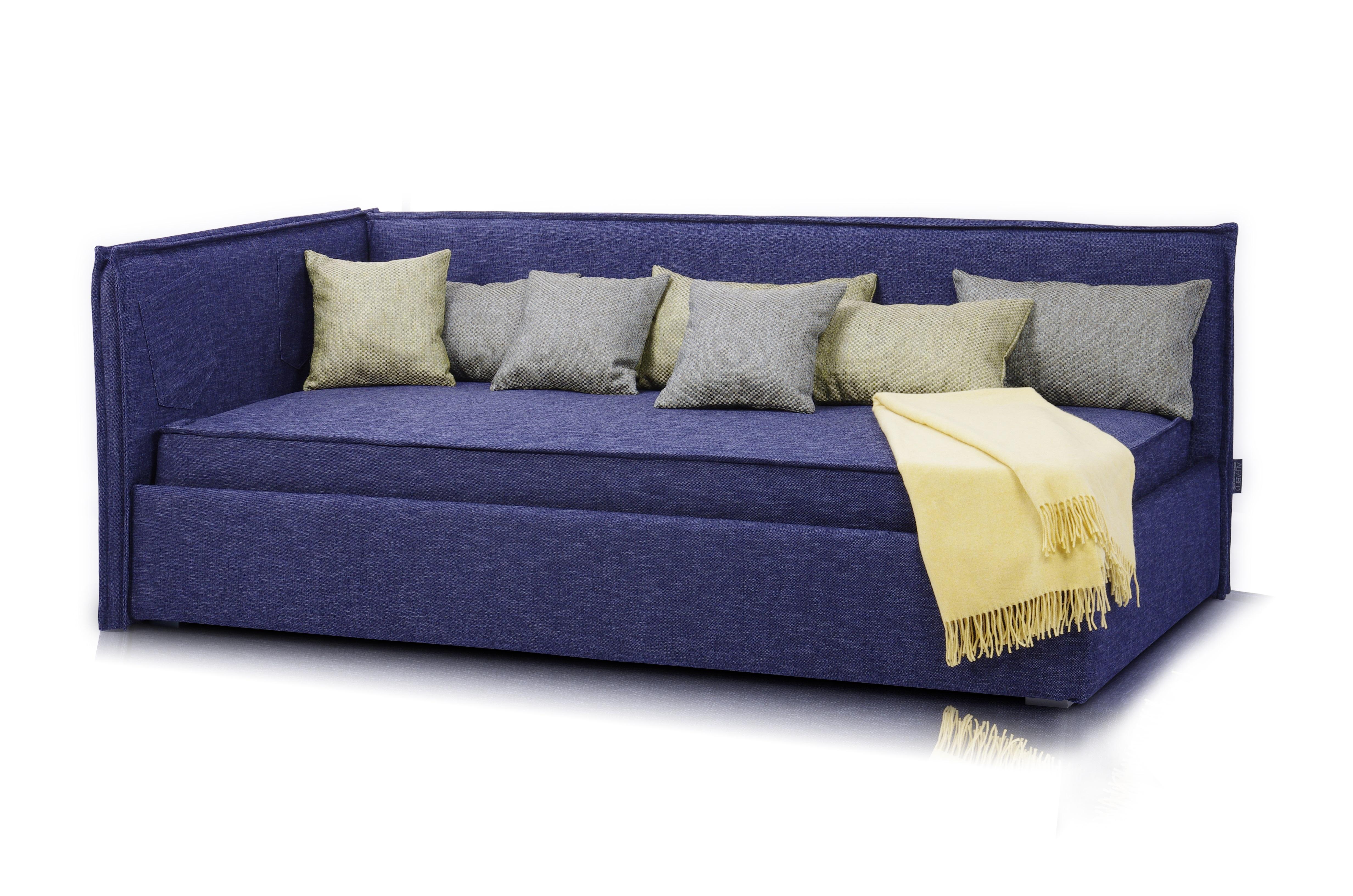 Кровать-диван SoloПрямые раскладные диваны<br>Кровать-диван  «Solo».                                                                                                                                                                                                                                                                                                                                                                                                                                                                                                    Штатный размер посадочного и спального места 200х120<br>Ортопедическое основание входит в комплект <br>Ортопедический матрас в комплекте.<br>Декоративные подушки входят в комплект поставки<br>Плед в комплект не входит<br>Элемент дизайна: отличается современным дизайном и высокой функциональностью. Он занимает мало места и способен вписаться в помещение,оформленное в любом стиле <br>Цвет синий Denim<br>Все чехлы съемные на липучках (можно чистить)&amp;amp;nbsp;&amp;lt;div&amp;gt;Декоративные подушки и плед в стоимость не входят.&amp;lt;/div&amp;gt;<br><br>Material: Текстиль<br>Ширина см: 210<br>Высота см: 90<br>Глубина см: 130