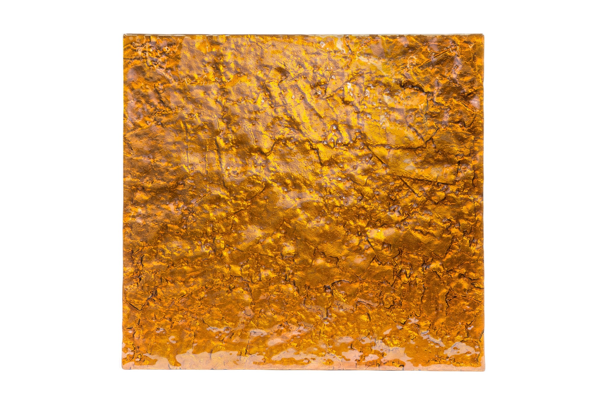 Стеновая панель Golden HoneyПанно<br>Стеновые панели из стекла способны преобразить любой интерьер до неузнаваемости. Экспериментируйте с цветом и фактурой — дайте волю фантазии! Стеклянные стеновые панели – это оригинальный способ создать незаурядный интерьер, как в общественном заведении, так и в приватном помещении. Панели легко крепятся к поверхности  с помощью специального клея. Использовать стеклянные панели также можно в качестве фасада мебели. Панелями можно обшить, как большую площадь сразу (в помещении или на улице), так и отдельные элементы (например, колонны). Изготавливаются под размеры заказчика.<br><br>Material: Стекло<br>Width см: 100<br>Depth см: 2<br>Height см: 100