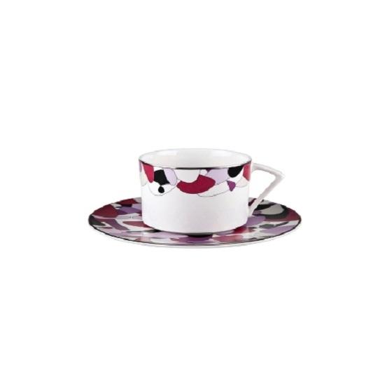 ПАРА ЧАЙНАЯ PURPLE FIZZЧайные пары, чашки и кружки<br>Сверхэффектно и очень красиво – это чайная пара &amp;quot;PURPLE FIZZ&amp;quot;! Геометрический узор на белоснежном фарфоре напоминает керамическую мозаику. Тонкое сочетание пурпурного, черного и фиолетового оттенков. Блюдце полностью покрыто узором, а на чашку он нанесен в верхней трети.&amp;amp;nbsp;<br><br>Material: Фарфор