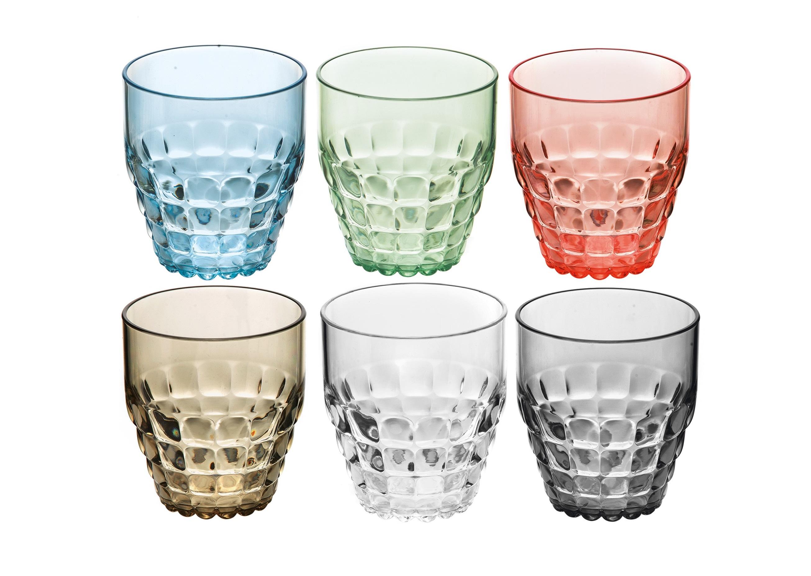 Набор стаканов Tiffany (6шт)Стаканы<br>Легкий и яркий дизайн стаканов Tiffany будто намекает на освежающие лимонады, бодрящие соки и цитрусовые коктейли. Отличается конической формой и прозрачным материалом, который придает стаканам характерный блеск. Сверкающий эффект усиливается на солнечном свету, поэтому стаканы станут отличным решением для подачи напитков на свежем воздухе. Идеально подойдут для использования каждый день - добавят яркий акцент пространству кухни или гостиной. Изготовлены из высококачественного органического стекла, устойчивого к износу и повреждениям.&amp;amp;nbsp;Не содержат вредных примесей и бисфенола-А. Можно мыть в посудомоечной машине.&amp;lt;div&amp;gt;&amp;lt;br&amp;gt;&amp;lt;/div&amp;gt;&amp;lt;div&amp;gt;Объем - 350 мл.&amp;amp;nbsp;&amp;lt;br&amp;gt;&amp;lt;/div&amp;gt;<br><br>Material: Стекло<br>Ширина см: 27<br>Высота см: 16<br>Глубина см: 9