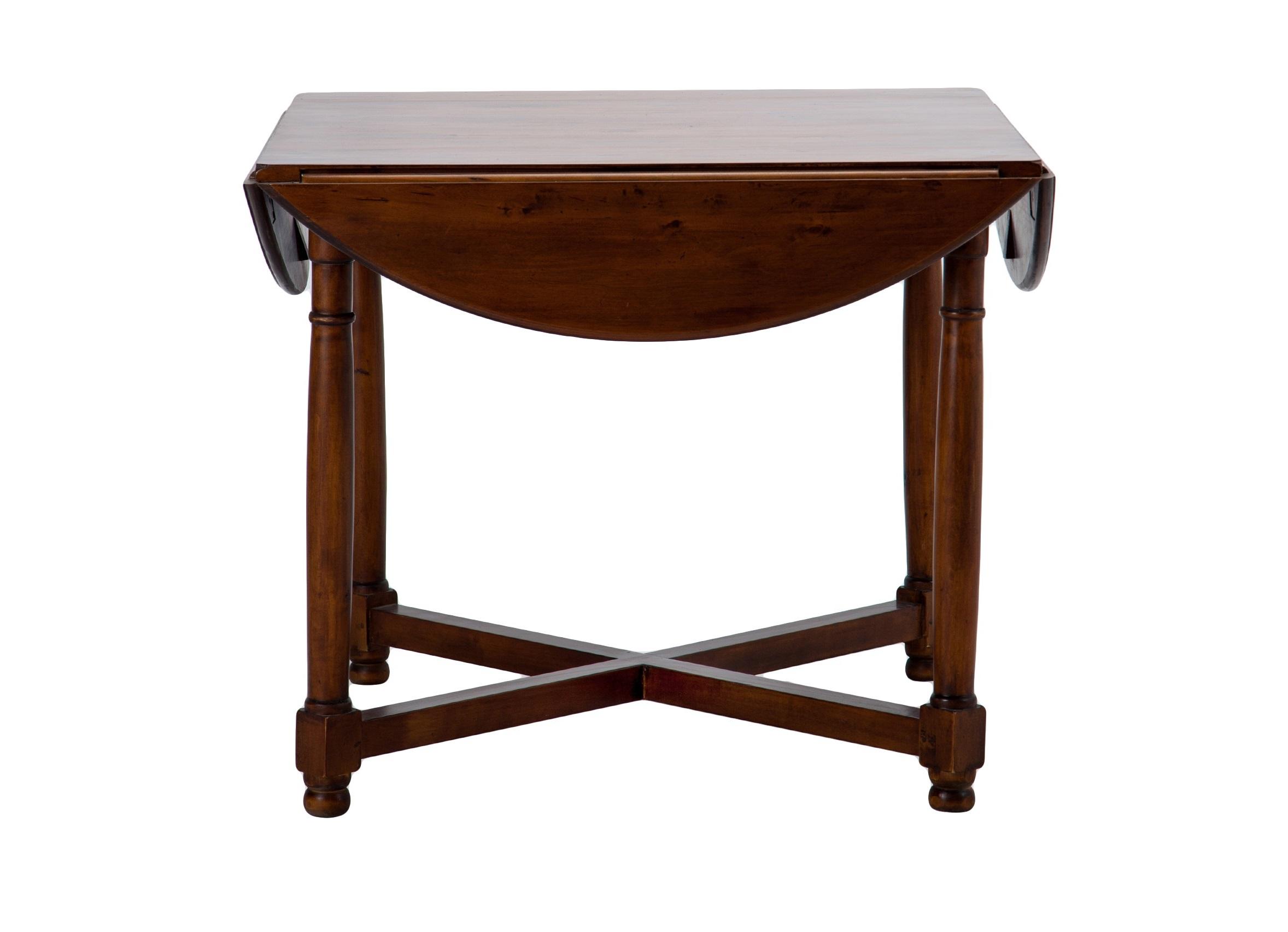 Стол обеденныйОбеденные столы<br>Стол обеденный круглый на четырех ножках из березы, складывается в квадратный.<br><br>Material: Береза<br>Height см: 77<br>Diameter см: 127
