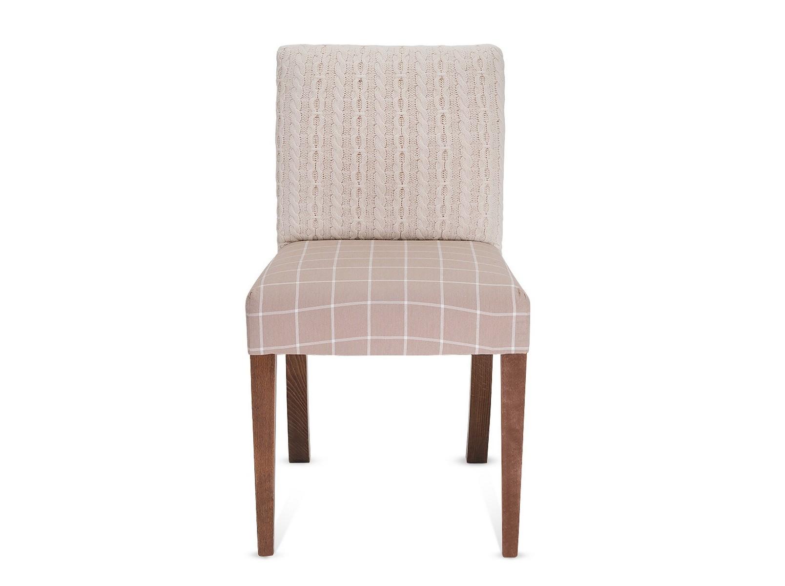 СтулОбеденные стулья<br>Мы прозвали эту пару просто и по-зимнему - стулья-свитерки. А все благодаря белоснежно белым вязанным спинкам. Поставьте стулья к камину, налейте глинтвейна и альпийское настроение уютного заснеженного шале возникнет и на подмосковной даче.<br><br>Material: Текстиль<br>Ширина см: 45<br>Высота см: 81<br>Глубина см: 43