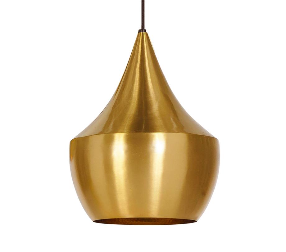 Подвесной светильникПодвесные светильники<br>Один металлический плафон, внутренняя поверхность плафона золотого цвета и оформлена декоративной чеканкой, металлическое основание в форме конуса<br>Цвет плафона золото<br>Длина крепежной пластины 10,5 см, D основания 12 см<br>Патрон E14, мощность max 1 х 40W<br><br>Material: Металл<br>Length см: None<br>Width см: None<br>Depth см: None<br>Height см: 29<br>Diameter см: 24