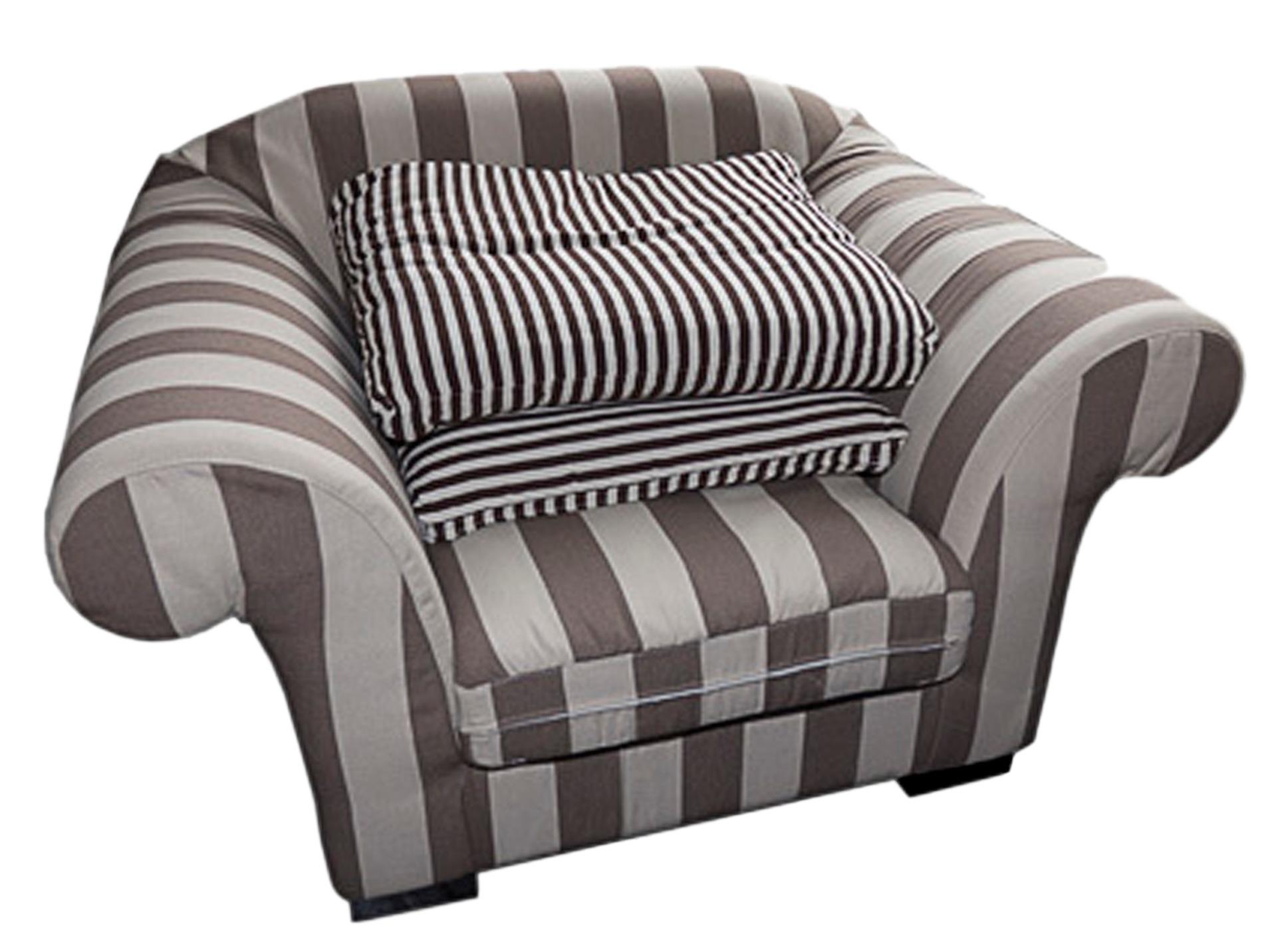 КреслоИнтерьерные кресла<br>Кресло с полосатой обивкой.<br><br>Material: Текстиль<br>Width см: 130<br>Depth см: 100<br>Height см: 75
