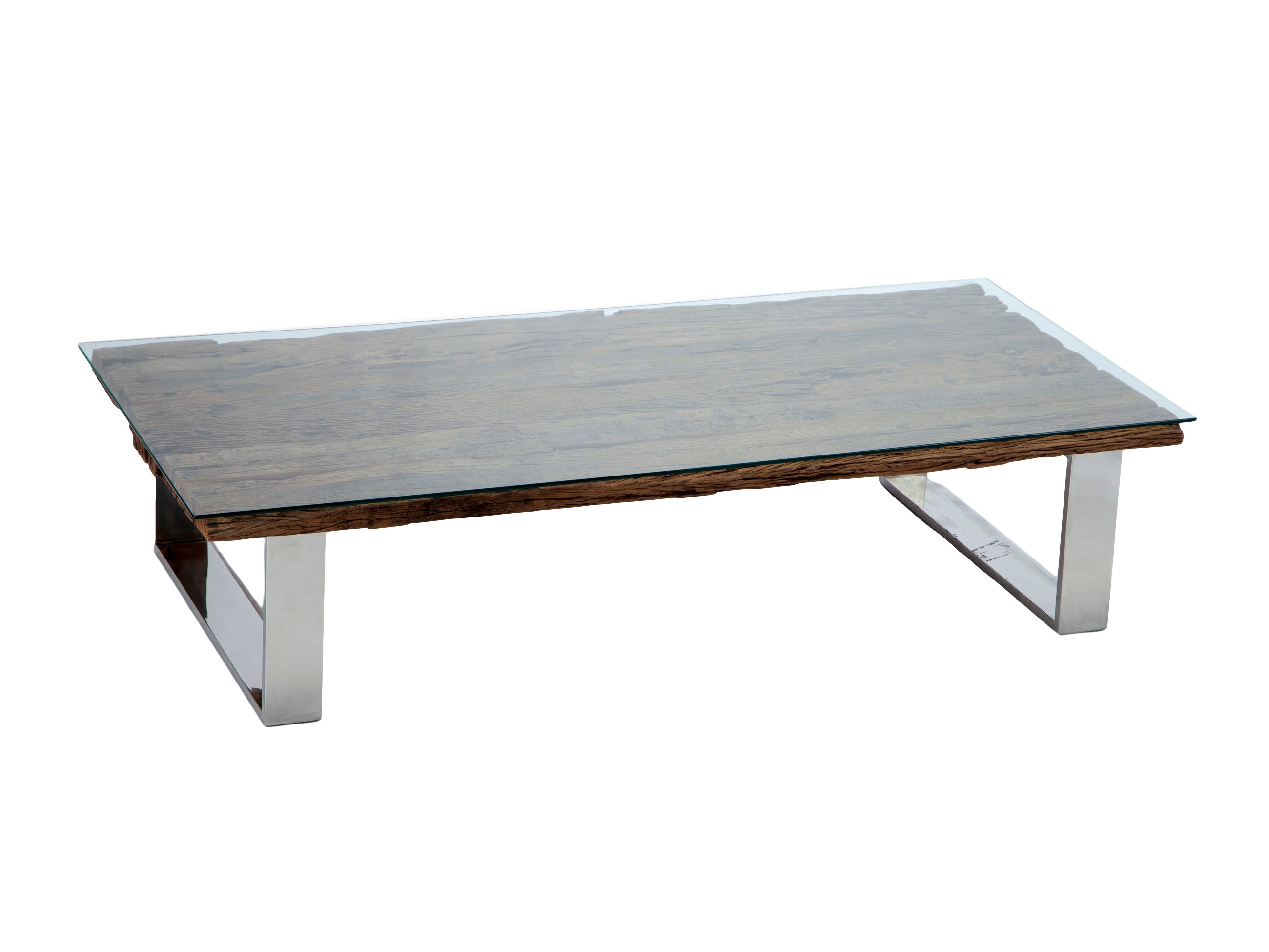 Стол кофейныйКофейные столики<br>Кофейный стол на металлических ножках,столешница из состаренного дерева( шпаловое дерево)и стекла.<br><br>Material: Стекло<br>Length см: None<br>Width см: 180<br>Depth см: 80<br>Height см: 40