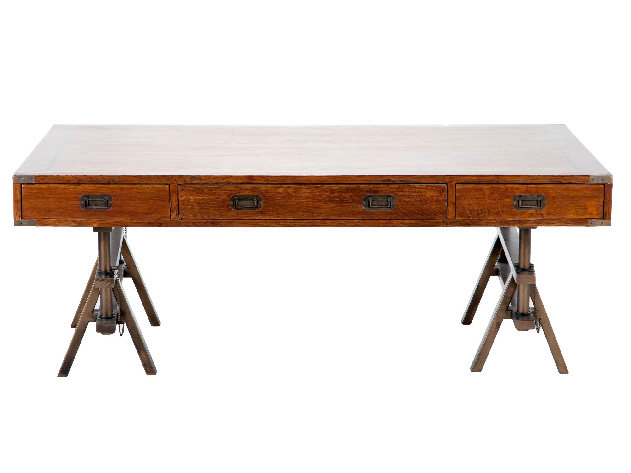 Кофейный столикКофейные столики<br>Стол кофейный из дерева с выдвижными ящиками на металлических ножках с регулируемой высотой.<br><br>Material: Дерево<br>Length см: None<br>Width см: 150<br>Depth см: 100<br>Height см: 44