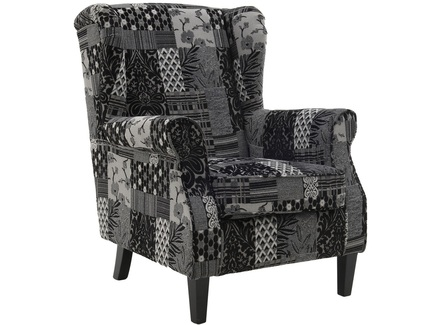 Кресло martínez (to4rooms) черный 76.0x95.0x83.0 см.
