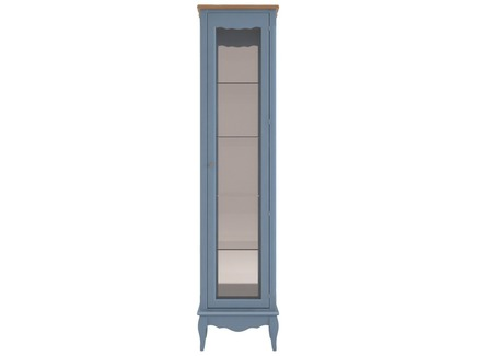 Витрина leontina (etg-home) голубой 45.0x190.0x37.0 см.