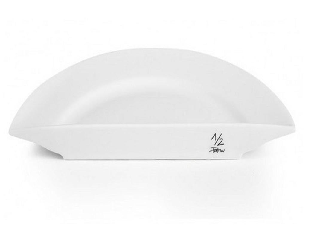 Половина тарелки half Diet PlateТарелки<br><br><br>Material: Фарфор<br>Width см: 27<br>Depth см: 13.5<br>Height см: 2.4