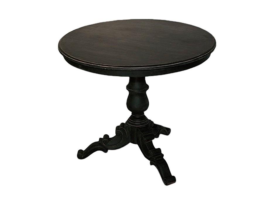 СтолКофейные столики<br>Круглый столик на резной ножке,декорирован старением.<br><br>Material: Дерево<br>Height см: 70<br>Diameter см: 80