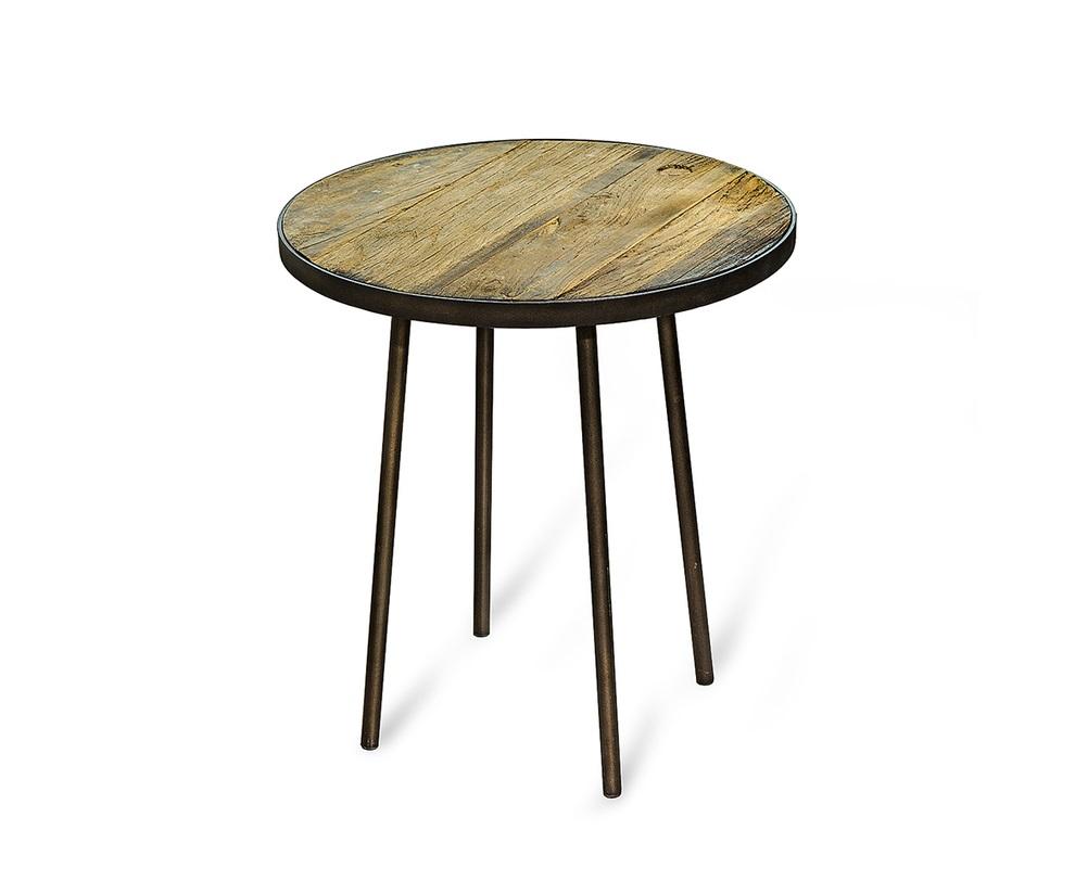 Стол ФизерКофейные столики<br>Круглый кофейный столик из натуральных материалов очаровывает простотой форм. Подойдет для оформления веранды или лаунж-зоны в интерьере в стиле прованс.<br><br>Состав: дерево, металл.<br><br>Material: Дерево<br>Length см: None<br>Width см: None<br>Depth см: None<br>Height см: 50<br>Diameter см: 55