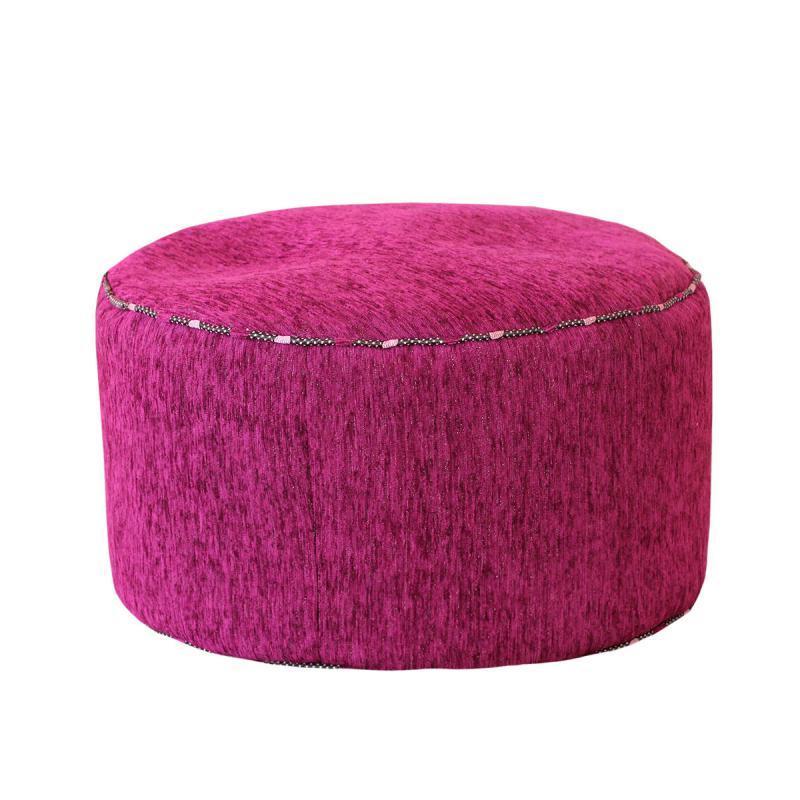 Круглый пуф Dots in PurpleФорменные пуфы<br>Очень легкий и удобный пуфик разбавит любой интерьер и послужит как мягкое сидение или небольшой столик.<br><br>Material: Текстиль<br>Height см: 30<br>Diameter см: 55