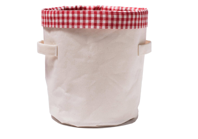 Короб Датские вафли в клеткуАксессуары для кухни<br>Материал: хлопок 60% + лен 40%<br><br>Material: Хлопок<br>Высота см: 27