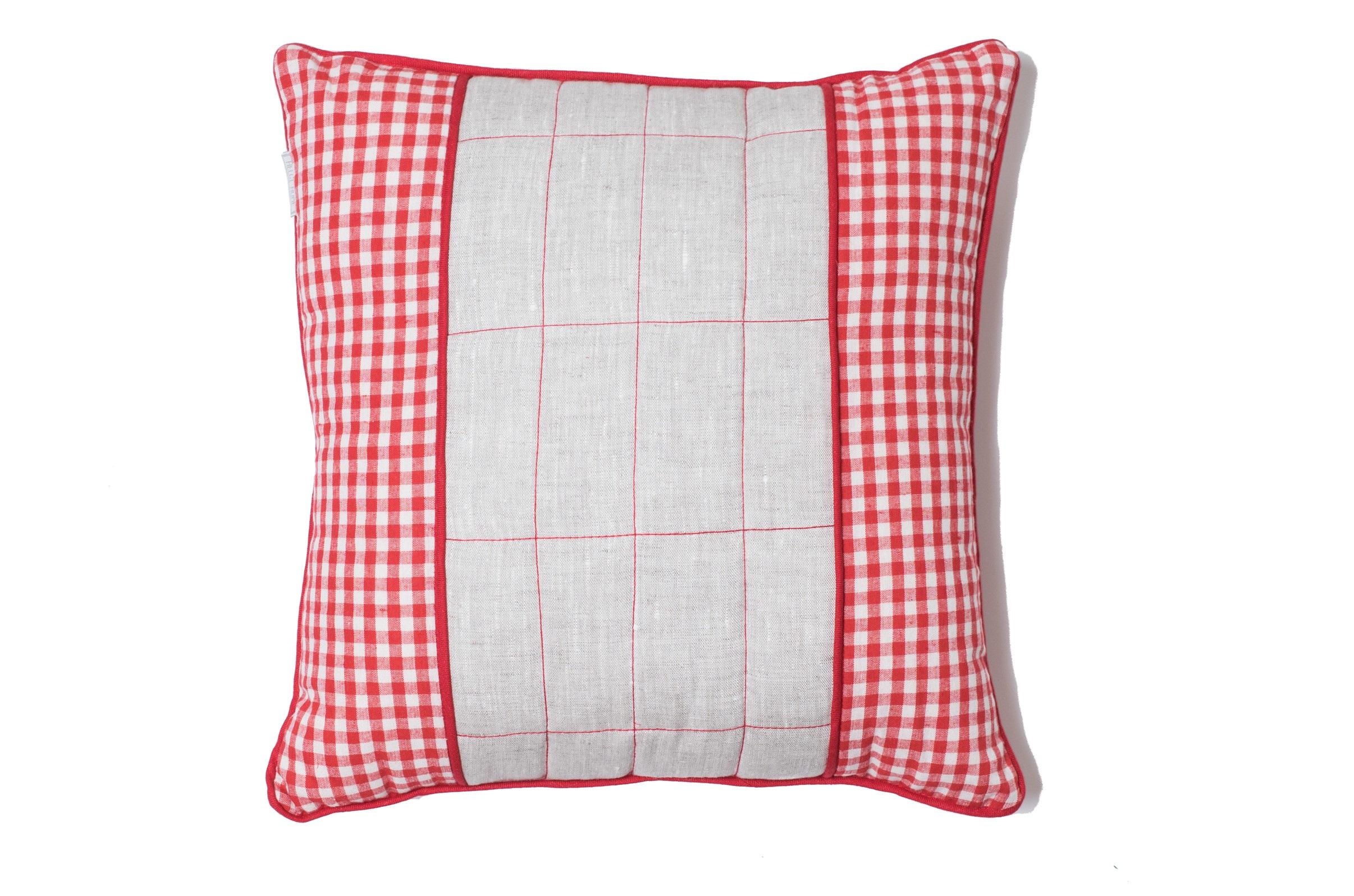Подушка Датские вафлиКвадратные подушки и наволочки<br>Материал: хлопок 50% + лен 50%<br><br>Material: Хлопок