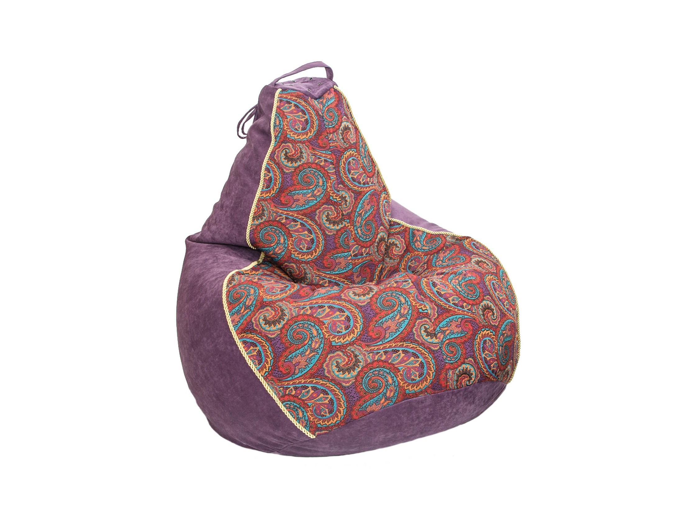 Бескаркасное креслоКресла-мешки<br>Бескаркасное кресло-мешок Boss - это кресло большого размера, которое хорошо поддерживает спину и плечи. Это делает кресло удобным для отдыха. Ткань - микровелюр с коротким ворсом и жаккард в восточном стиле. Коллекция тканей Aкварель была создана по полотнам художника Эдуарда Гау, что придает ей художественный шарм. Прочность ткани 60 000 циклов по Мартиндейлу, что подходит даже для коммерческого использования.&amp;amp;nbsp;<br><br>Material: Велюр<br>Height см: 150<br>Diameter см: 95