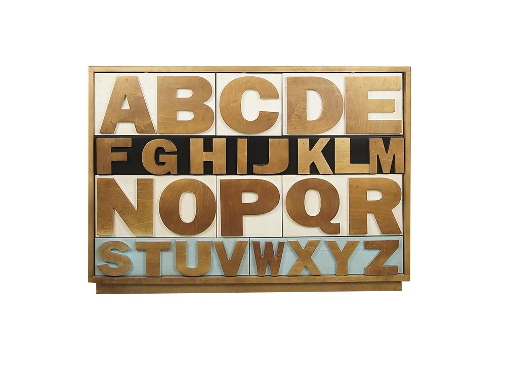 Комод Alphabeto BirchБельевые комоды<br><br><br>Material: Береза<br>Ширина см: 120.0<br>Высота см: 85.0<br>Глубина см: 40.0