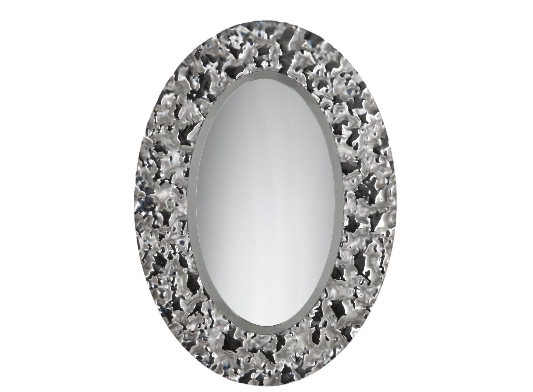 Зеркало Эллипс VentoНастенные зеркала<br>Застывшее мгновение вечности. Зеркало Эллипс так прекрасно, что перехватывает дух. Солнечные лучи, искусственное освещение – любой свет, попадающий на поверхность обрамления эллипса, создает неповторимую игру бликов. Настоящий танец света.  Обрамление зеркала имитирует поверхность воды на ветру, застывшую на долю секунды .  Зеркало в собранном виде и в комплекте есть крепления.<br><br>Material: Стекло<br>Length см: None<br>Width см: 75.5<br>Depth см: 5<br>Height см: 104.5
