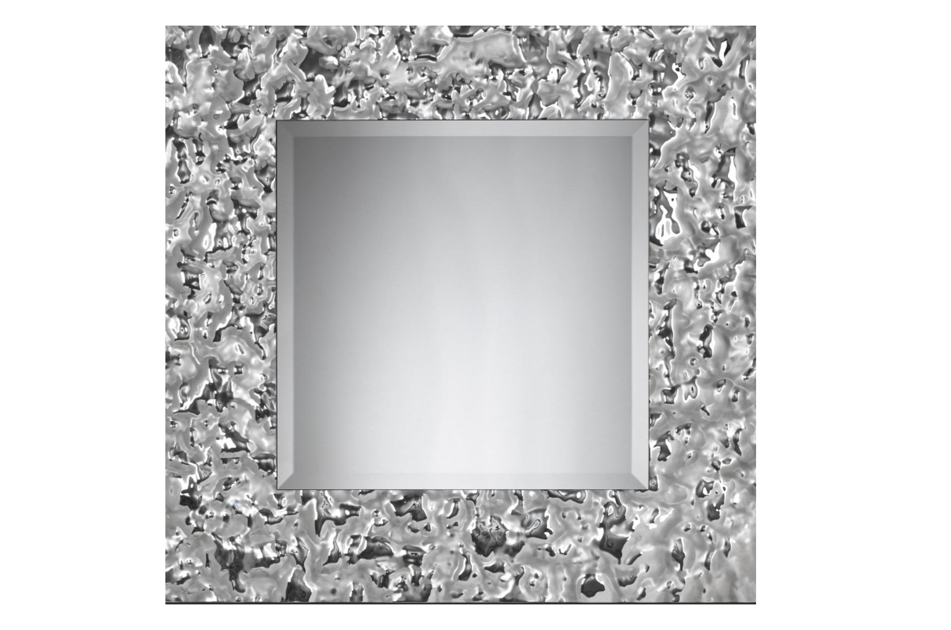 Зеркало Квадрат VentoНастенные зеркала<br>Квадратное зеркало в величественном обрамлении из стекла легко станет предметом гордости в вашем доме. Зеркало само по себе – уже эффектный декор. А уж если это, квадратное зеркало от Plusobject, то речь идет об уникальном продукте талантливых дизайнеров — братьев Фомичевых.  Обрамление зеркала имитирует поверхность воды на ветру, застывшую на долю секунды .  Зеркало в собранном виде и в комплекте есть крепления.<br><br>Material: Стекло<br>Width см: None<br>Depth см: 5<br>Height см: None<br>Diameter см: 80