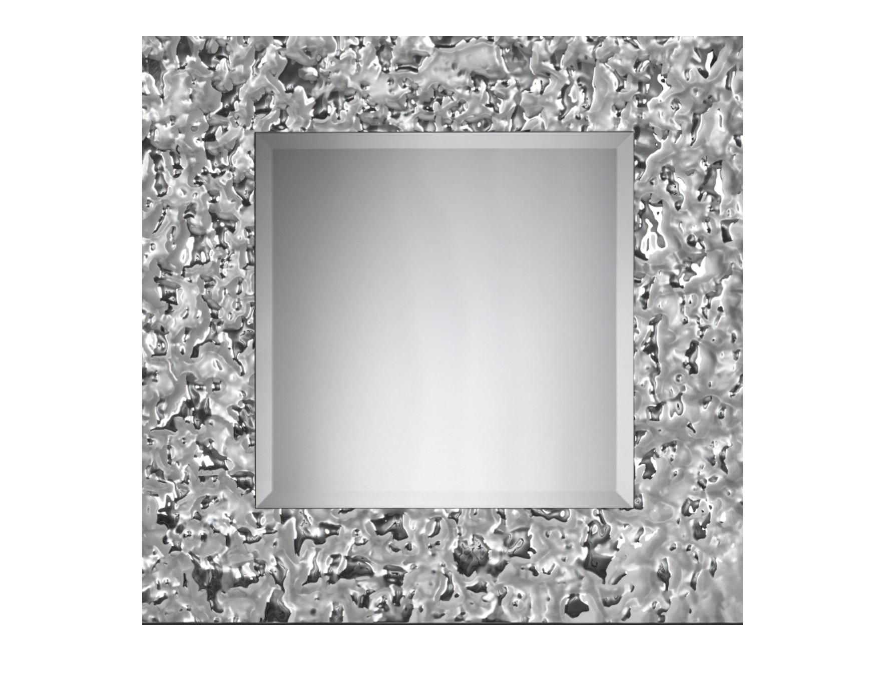 Зеркало Квадрат VentoНастенные зеркала<br>Квадратное зеркало в величественном обрамлении из стекла легко станет предметом гордости в вашем доме. Зеркало само по себе – уже эффектный декор. А уж если это, квадратное зеркало от Plusobject, то речь идет об уникальном продукте талантливых дизайнеров — братьев Фомичевых.  Обрамление зеркала имитирует поверхность воды на ветру, застывшую на долю секунды .  Зеркало в собранном виде и в комплекте есть крепления.<br><br>Material: Стекло<br>Width см: None<br>Depth см: 5<br>Height см: None<br>Diameter см: 105