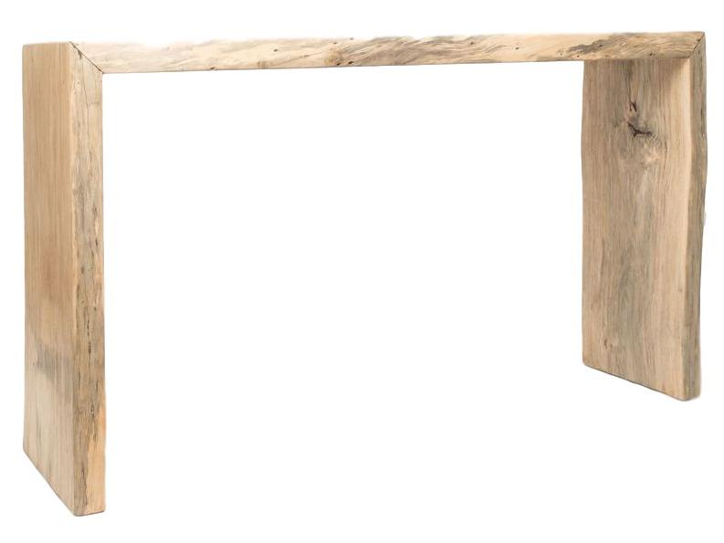 Стол консольный TamarindНеглубокие консоли<br>Заведите себе тамаринд. Экзотическая порода славится своей прочностью и износостойкостью, а нас радует еще и неизменной эстетикой – благородный светлый оттенок и уникальную структуру древесины мы подчеркнули самой простой формой.<br><br>Material: Дерево<br>Width см: 150<br>Depth см: 46<br>Height см: 86