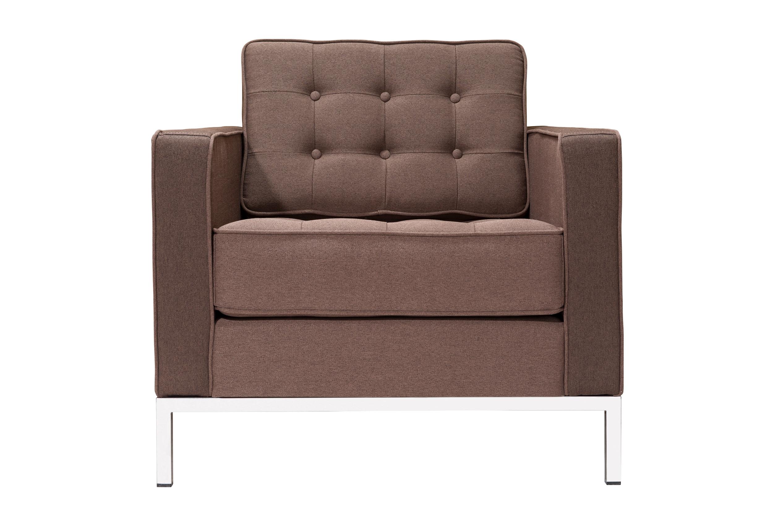 Кресло KnollИнтерьерные кресла<br>Это кресло разработано Флоренс Нолл более полувека назад, в 1954 году. Несмотря на давность творения, оно выглядит современно и является подходящим для любых модных сегодня интерьеров. Не выходить из моды ему позволяют пропорции, сочетающиеся друг с другом в строгой симметрии. Оригинальность нарочито простому силуэту дарят детали вроде мебельной стяжки и металлических ножек. Отделка тканью голубого цвета позволяет минималистичному образу выглядеть ярко и притягивать внимание.<br><br>Для изготовления кресла Knoll  используется высококачественная, износостойкая ткань коллекций Paris и Furor. Вы можете выбрать из 28 благородных оттенков. Ткань характеризуется высокой прочностью, устойчивостью к химическому и световому воздействиям, не линяет, не скатывается и не впитывает жидкость.<br>Срок изготовления: 20-25 рабочих дней после оплаты заказа.<br><br>Material: Текстиль<br>Width см: 83<br>Depth см: 80<br>Height см: 80