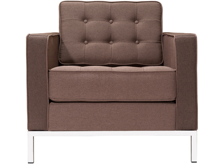 Кресло knoll (myfurnish) коричневый 83x80x80 см.