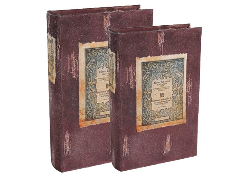 Шкатулка (2 шт)Шкатулки<br>&amp;lt;div&amp;gt;Комплект шкатулок в виде старинных книг.&amp;lt;/div&amp;gt;&amp;lt;div&amp;gt;Размеры шкатулок: 170x260x50, 130x205x35.&amp;lt;/div&amp;gt;<br><br>Material: Дерево<br>Ширина см: 17<br>Высота см: 26<br>Глубина см: 5