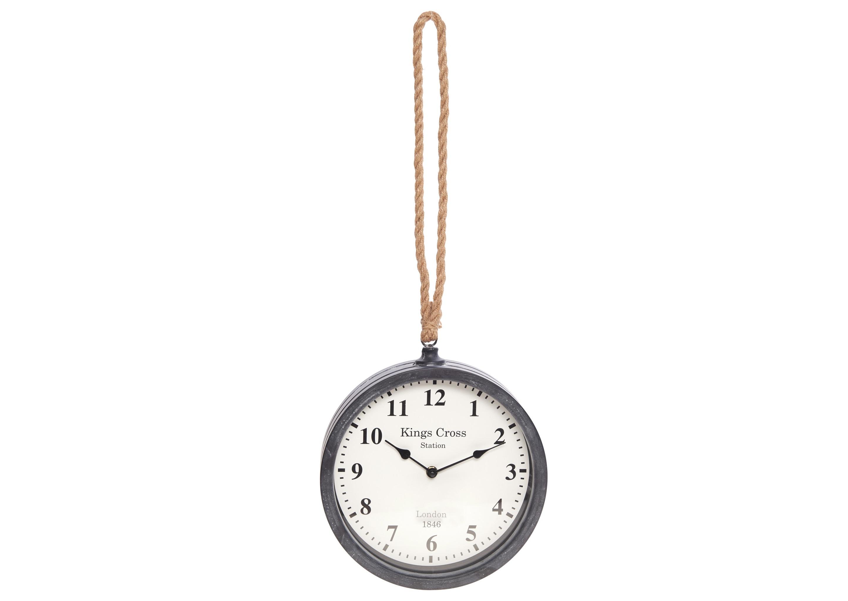 Часы настенные BontoНастенные часы<br>Кварцевый механизм<br><br>Material: Металл<br>Глубина см: 7