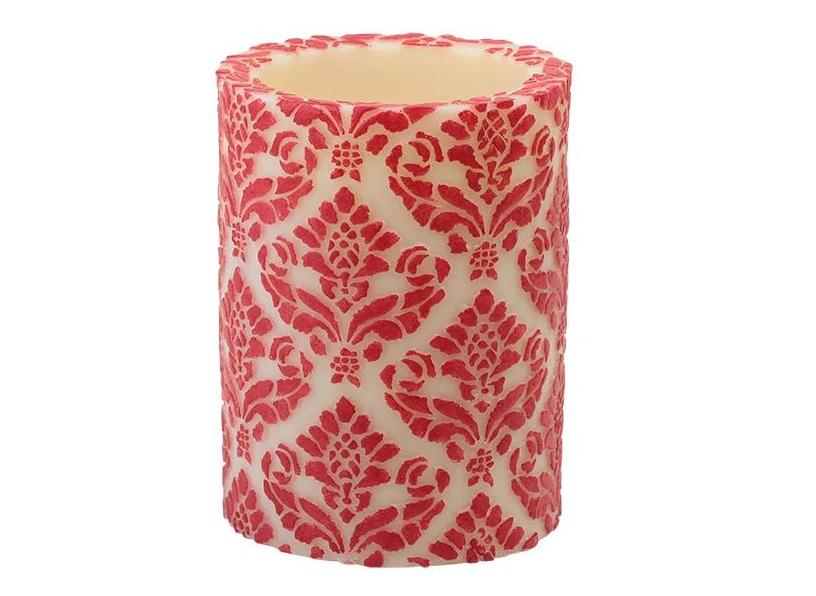 Свеча Damask PillarСвечи<br>Долгогорящая свеча из натурального воска, коллекция Damask, аромат Gardenia. Время горения 120 часов.<br><br>Material: Воск<br>Высота см: 15