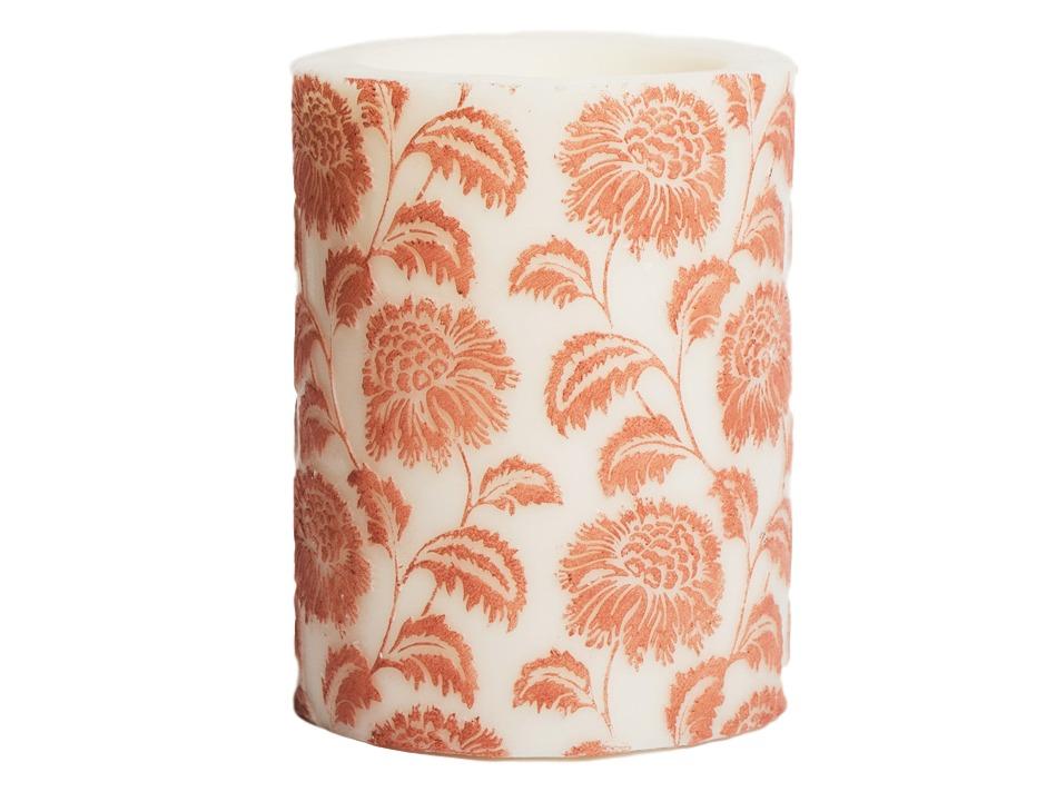 Свеча Flower Pillar CayenneСвечи<br>Декоративная ароматическая свеча  из натурального воска, коллекция Wild Flower,  ручная раскраска. Время горения 120 часов.<br><br>Material: Воск<br>Высота см: 15