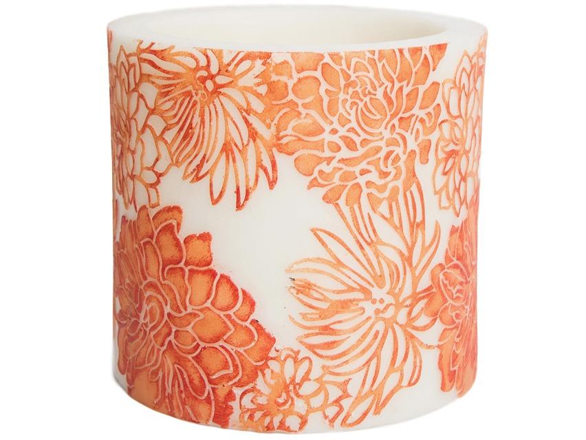 Свеча ChrysanthemumСвечи<br>Долгогорящая свеча из натурального воска, коллекция  Chrysanthemum, аромат Orange Freesia. Время горения 60 часов.<br><br>Material: Воск<br>Высота см: 10