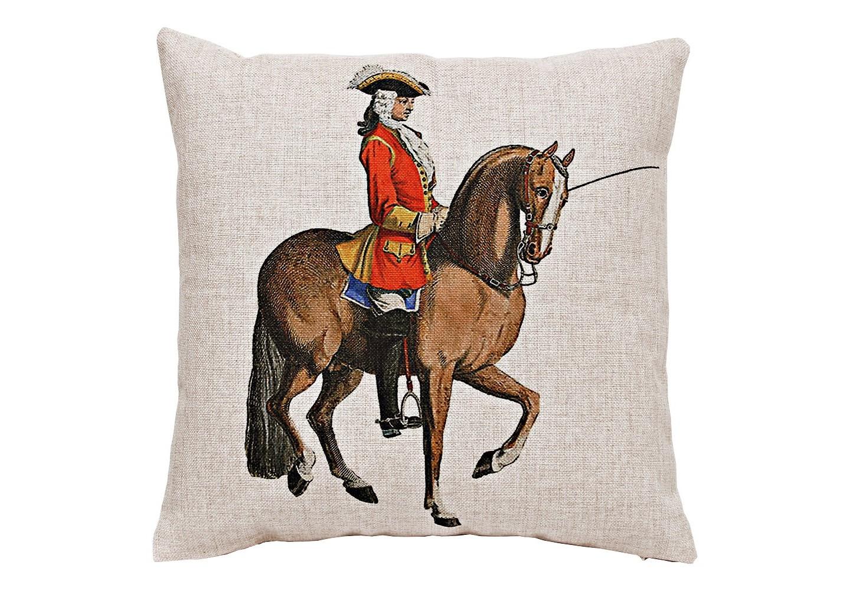 Декоративная подушка «Верховая езда, Урок № 2»