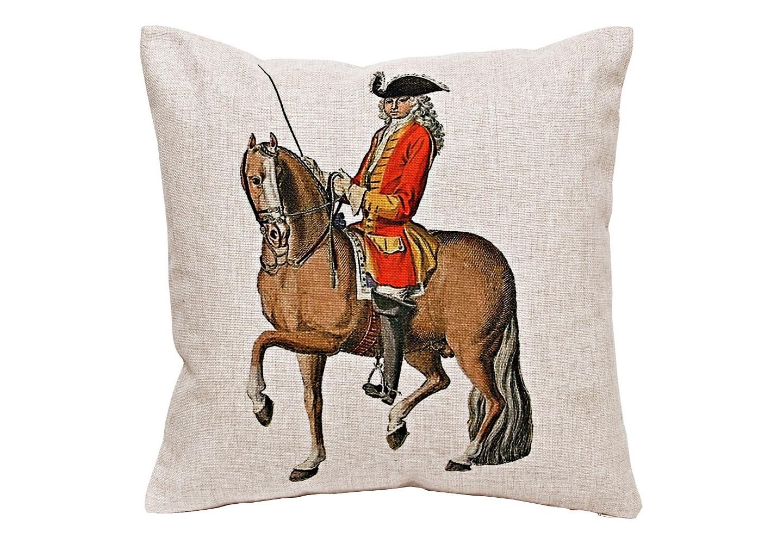 Декоративная подушка «Верховая езда, Урок № 4»