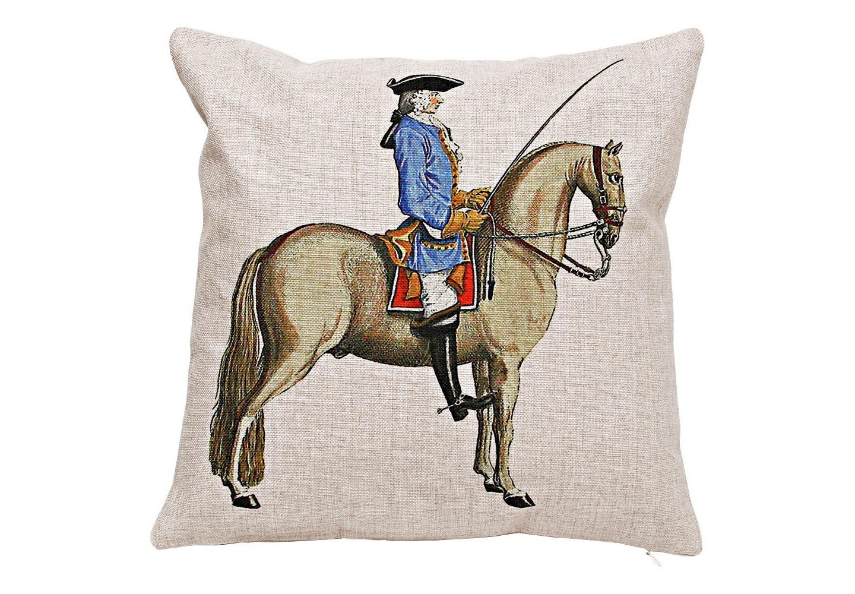 Декоративная подушка «Верховая езда, Урок № 6»