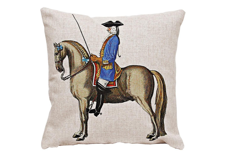 Декоративная подушка «Верховая езда, Урок № 8»
