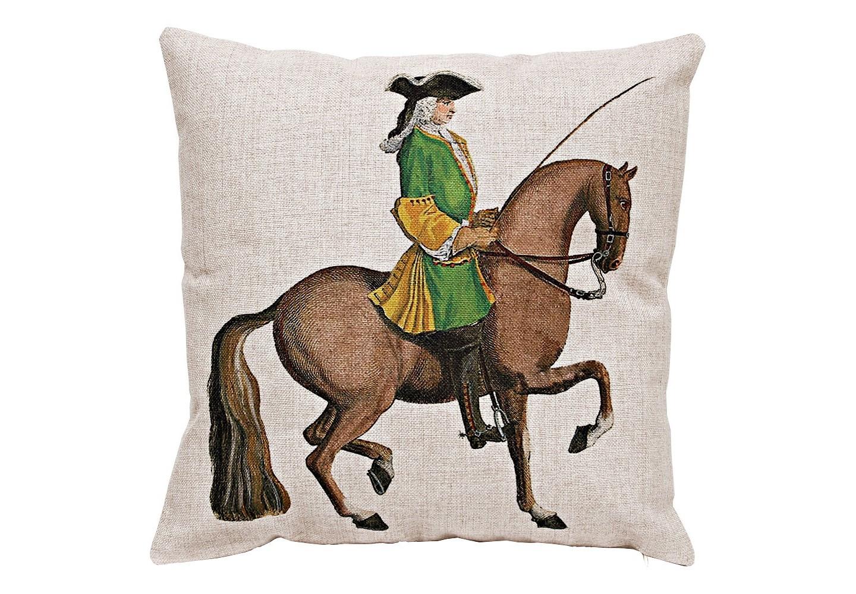 Декоративная подушка «Верховая езда, Урок № 10»