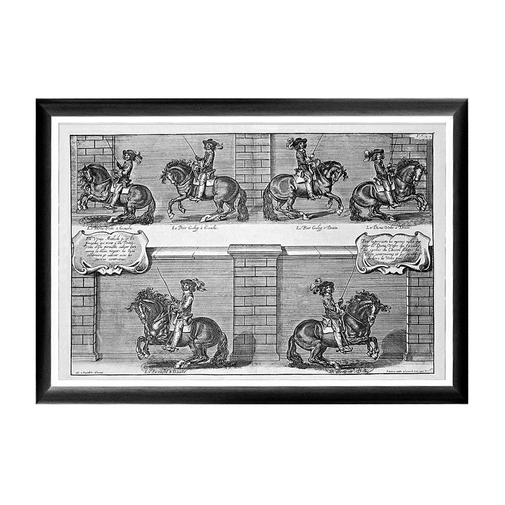 Арт-постер «Новейший метод конного искусства», гравюра 3