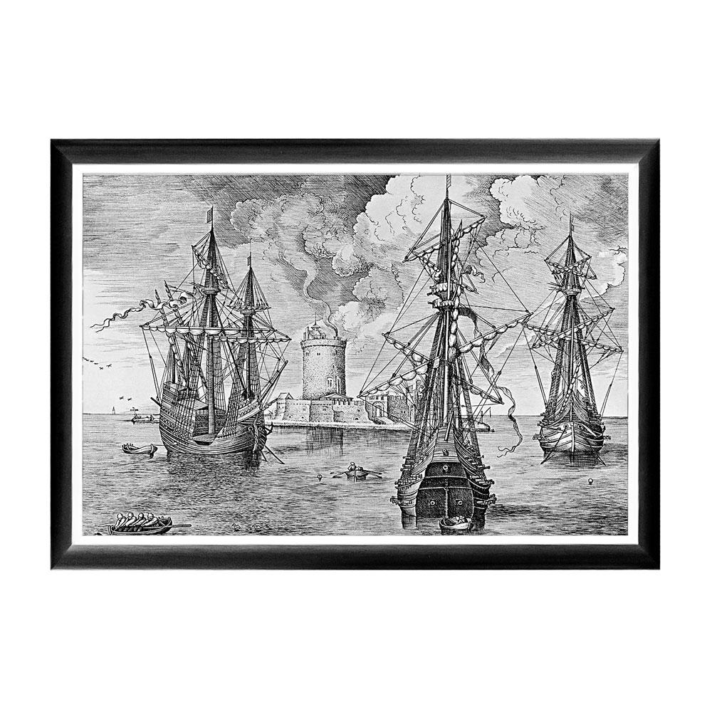 Арт-постер «Брейгель: Три военных корабля»