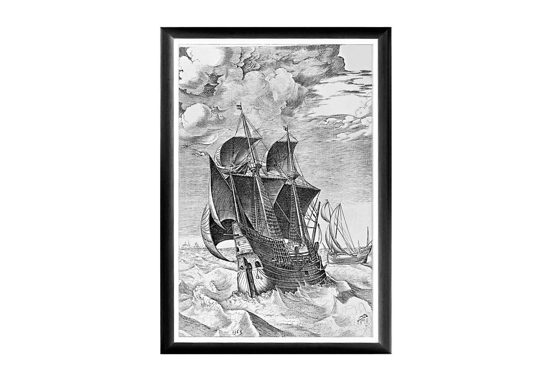 Арт-постер «Брейгель: Корабль в бурном море»Постеры<br>Арт-постер &amp;quot;Корабль в бурном море&amp;quot; - фрагмент графического морского сериала, написанного Брейгелем в 1561 году. Грациозная, визуально невесомая рама феноменально гармонична любому интерьерному жанру. Теплые полутона античной графики и интригующие приключенческие сюжеты озарят Ваши пространства светлой эмоциональной атмосферой. Изображение защищено стеклопластиком, стойким к микроцарапинам и помутнению.<br><br><br>&amp;lt;div&amp;gt;&amp;lt;br&amp;gt;&amp;lt;/div&amp;gt;&amp;lt;div&amp;gt;Материал: рама - багет из полистирола, защитный слой - прозрачный пластик, изображение – дизайнерская бумага&amp;lt;br&amp;gt;&amp;lt;/div&amp;gt;<br><br>Material: Бумага<br>Width см: 45<br>Depth см: 2<br>Height см: 66