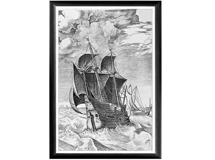 Арт-постер «брейгель: корабль в бурном море» (object desire) мультиколор 45.0x66.0x2.0 см.
