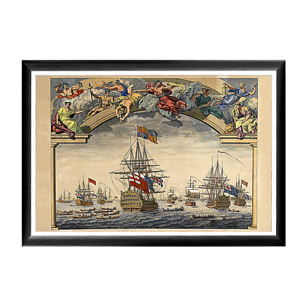 Арт-постер «Восстание флота»Постеры<br>Арт-постер &amp;quot;Восстание флота» изготовлен на основе гравюры Майкла ван дер Гюхта (1660–1725). Этот постер - простой, но надежный инструмент интерьерного настроения. Приключенческий сюжет очаровывает воображение загадочной интригой, заряжая пространства потоком цветовой энергии. Контрастная черно-белая рама внушает цветной картине особую выразительность. Изображение защищено стеклопластиком, стойким к микроцарапинам и помутнению.&amp;lt;div&amp;gt;&amp;lt;br&amp;gt;&amp;lt;/div&amp;gt;&amp;lt;div&amp;gt;Материал: рама - багет из полистирола, защитный слой - прозрачный пластик, изображение – дизайнерская бумага&amp;lt;br&amp;gt;&amp;lt;/div&amp;gt;<br><br>Material: Бумага<br>Width см: 66<br>Depth см: 2<br>Height см: 45