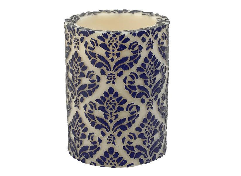 Свеча Damask PillarСвечи<br>Долгогорящая свеча из натурального воска, коллекция  Damask, аромат Cempaka Blossom. Время горения 120 часов.<br><br>Material: Воск<br>Высота см: 15