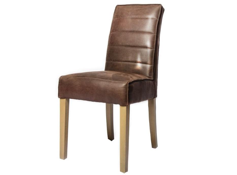 Стул Colorado BrownОбеденные стулья<br>Стул с отделкой из высококачественной искусственной замши на ножках из массива дерева.<br><br>Material: Замша<br>Ширина см: 48<br>Высота см: 97<br>Глубина см: 63