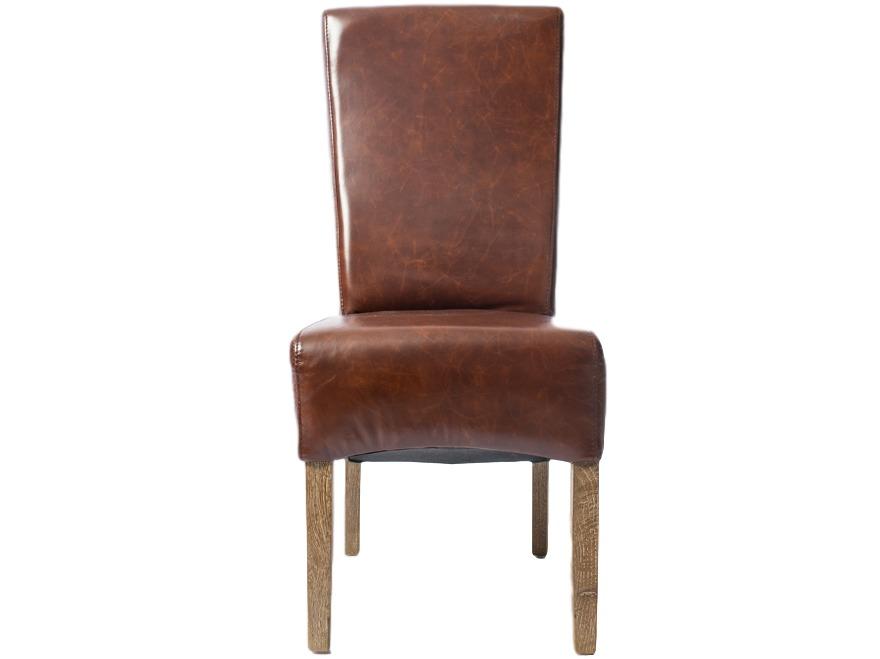 Стул ButonОбеденные стулья<br>Обеденный стул  Buton с высокой спинкой, обтянут натуральной кожей, светлые ножки из дуба.<br><br>Material: Кожа<br>Ширина см: 45<br>Высота см: 100<br>Глубина см: 55