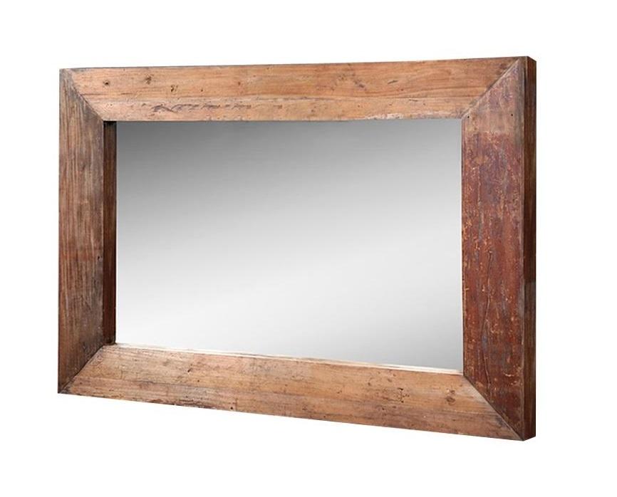 Зеркало DecНастенные зеркала<br>Зеркало &amp;quot;Dec&amp;quot; доказывает, что грубая природная красота может быть очаровательной. Рустикальный дизайн, выраженный в массивности форм и отсутствии какой-либо отделки, дарит настенному декору завораживающий облик. Рама из благородного тика, в ширину достигающая 25 сантиметров, выступает изюминкой этого зеркала. Именно она несет в себе благородство, спокойствие и величественность, которые вместе создают неповторимый образ.<br><br>Material: Тик<br>Length см: None<br>Width см: 160<br>Depth см: 7<br>Height см: 230