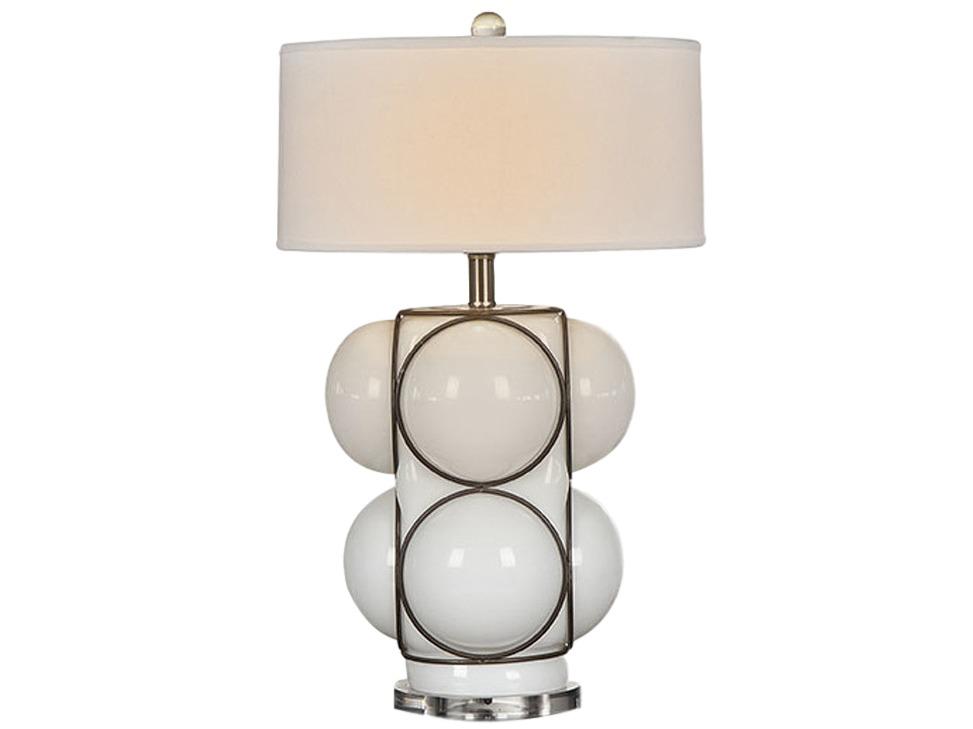Светильник настольный W-bubleДекоративные лампы<br>Классический настольный светильник W-buble от дизайнера Thomas Bina. Сочетание стекла и металла демонстрирует современные технологии и изысканный вкус дизайнера.<br><br>Цоколь: Е-27, max 75W<br><br>Material: Стекло<br>Ширина см: 40<br>Высота см: 71