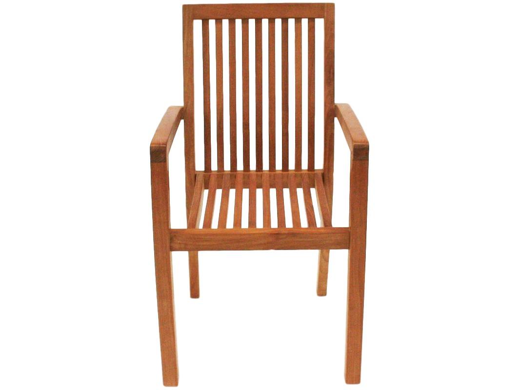 Стул KatyСтулья для сада<br>Удобный стул из массива тика натурального светлого оттенка в составе уличной композиции образует прекрасную композицию для отдыха и эстетического наслаждения в стиле кантри.<br><br>Material: Тик<br>Ширина см: 59<br>Высота см: 91<br>Глубина см: 52